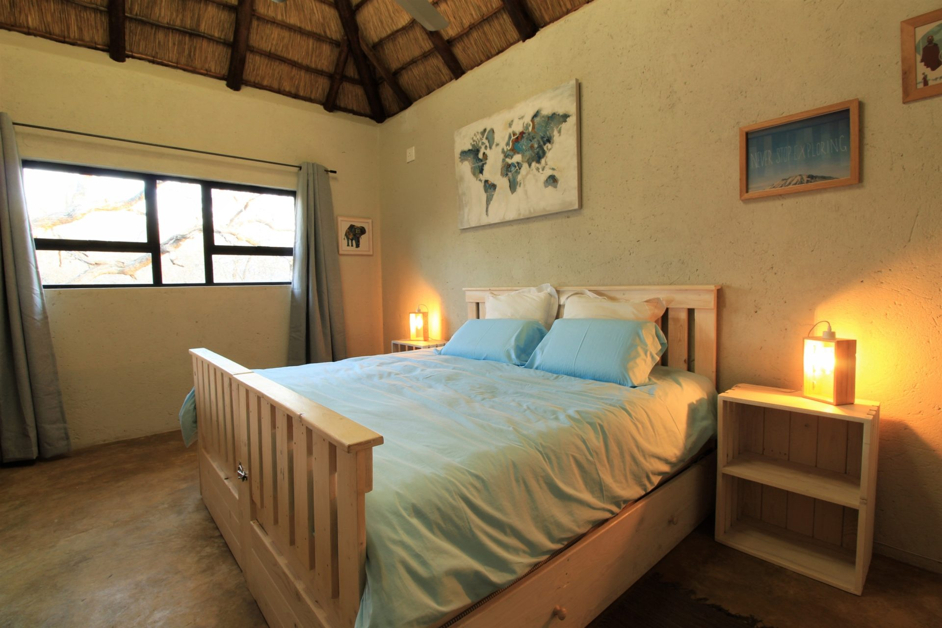 Leadwood Self Catering Guesthouse in Marloth Park, Mpumalanga, South Africa - upstairs bedroom with 4 x sleeping space